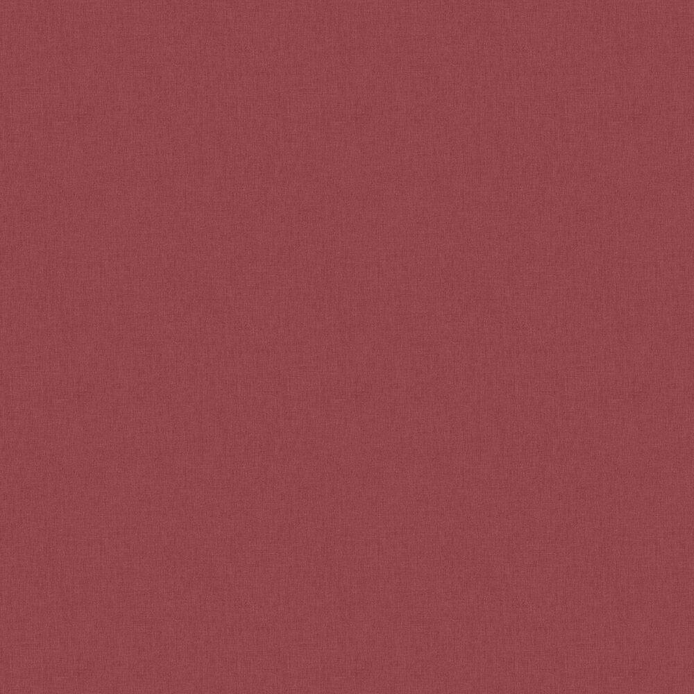 Linen Wallpaper - Bordeaux Red - by Caselio