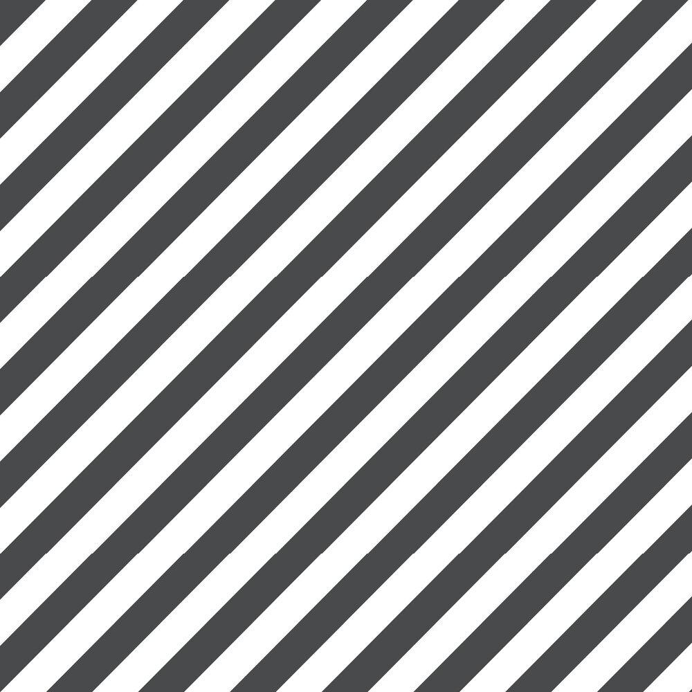 Large Diagonal Stripe Wallpaper - Black - by Galerie
