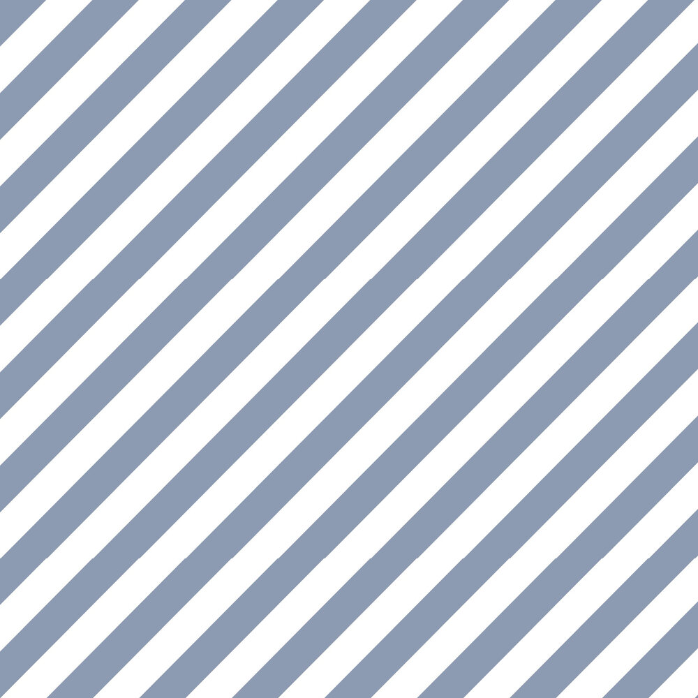 Large Diagonal Stripe Wallpaper - Blue - by Galerie
