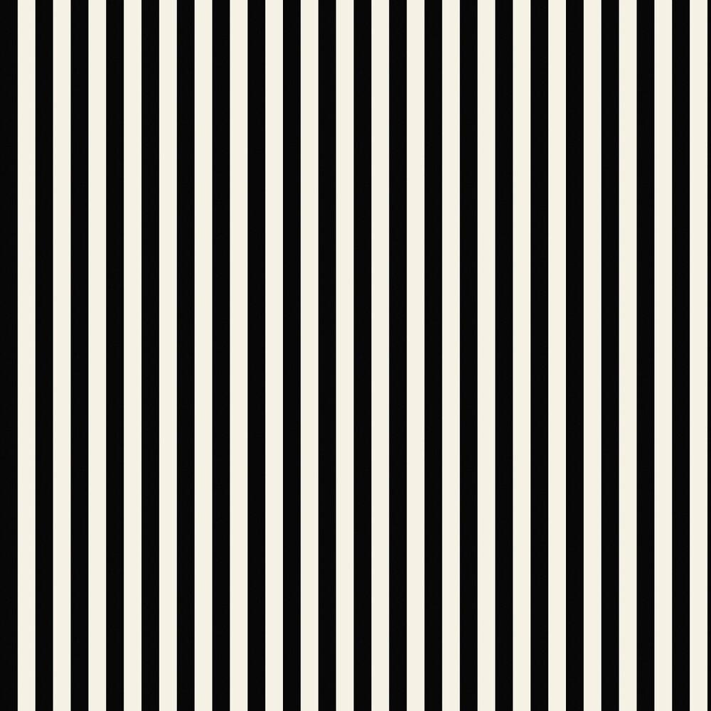 Galerie Medium Stripe Black / Pearl Wallpaper - Product code: SY33907