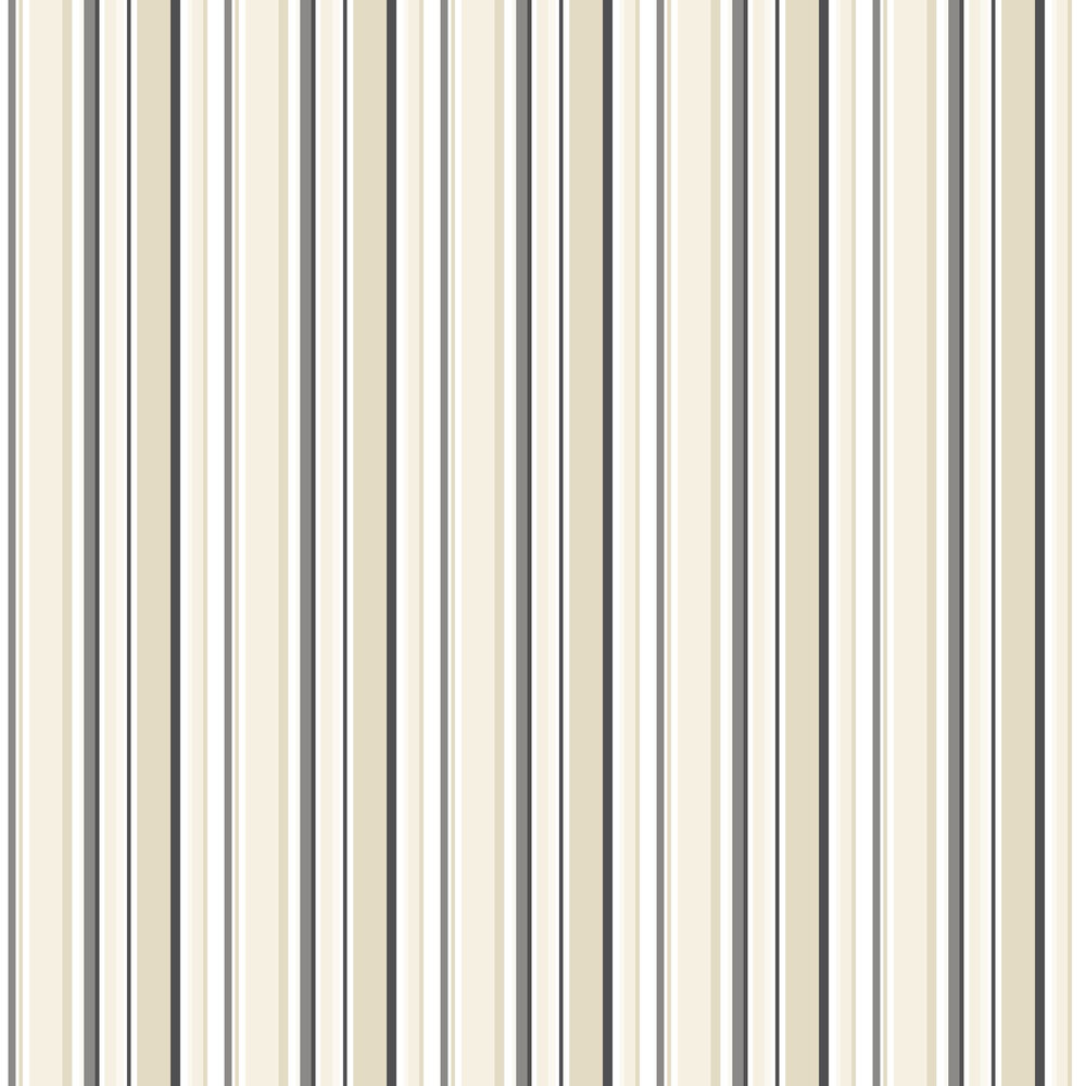 Galerie Multi Stripe Black / Tan Wallpaper - Product code: ST36910
