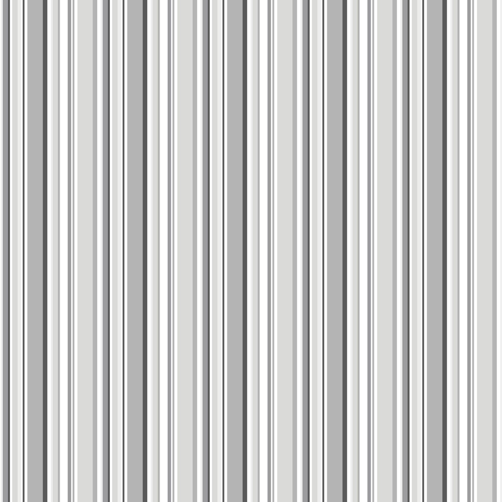 Multi Stripe Wallpaper - Black / Grey - by Galerie