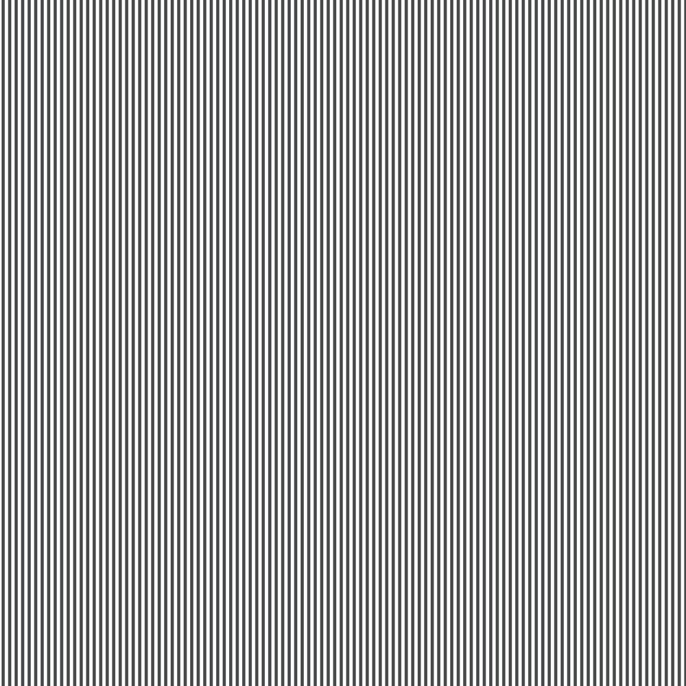 Small Stripe Wallpaper - Black - by Galerie