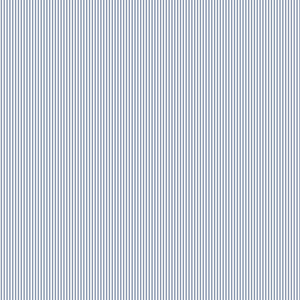 Small Stripe Wallpaper - Blue - by Galerie