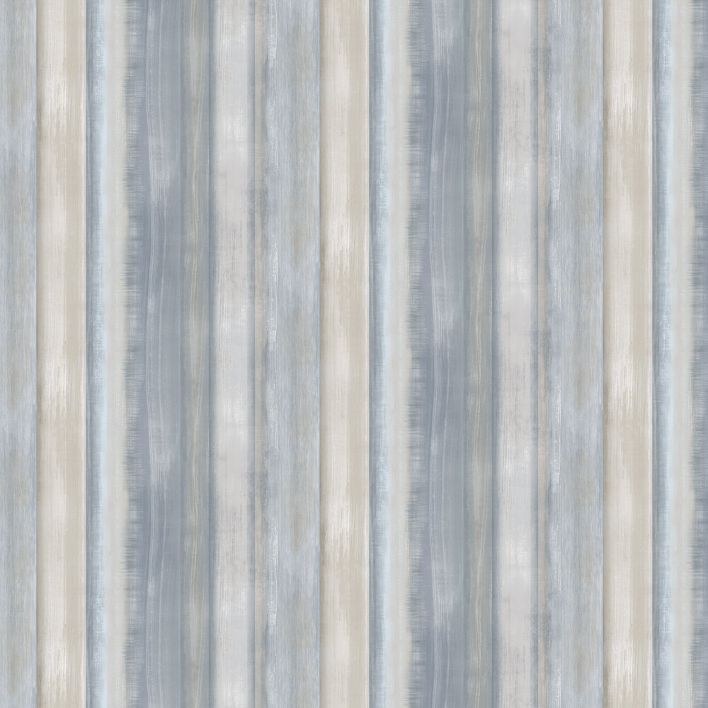 Painted wood Wallpaper - Blue Grey - by Galerie