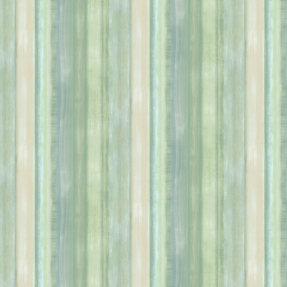 Painted wood Wallpaper - Green - by Galerie