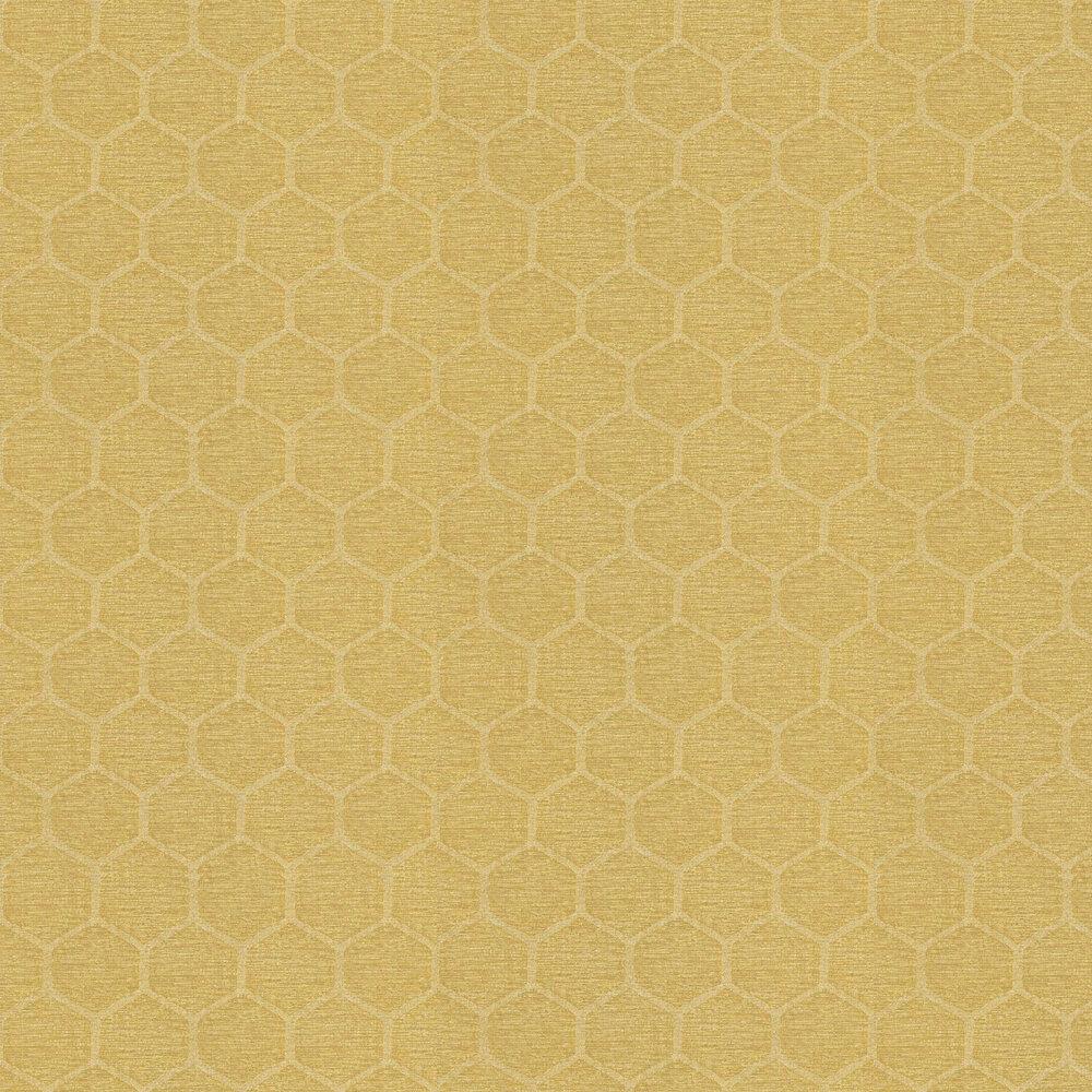 Marylebone Wallpaper - Yellow - by Casadeco
