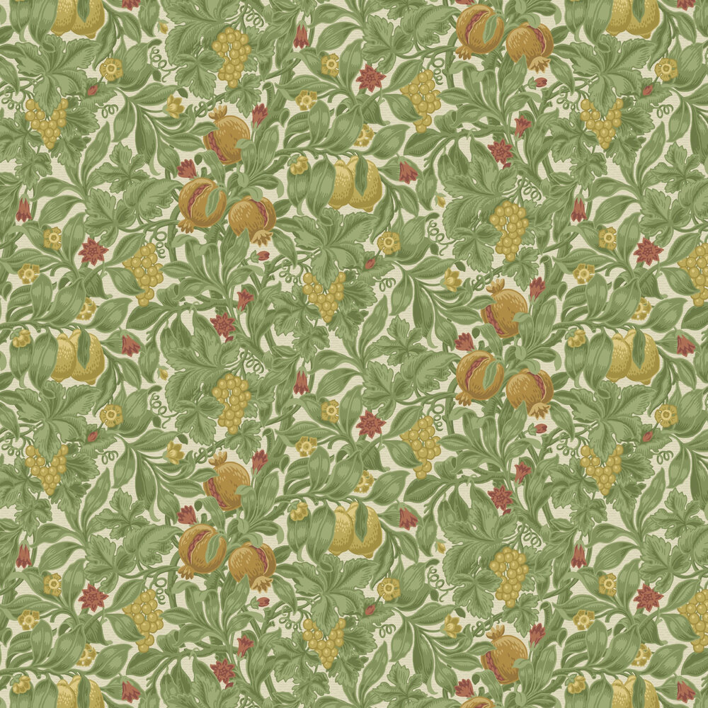 Vines of Pomona Wallpaper - Ochre / Olive Green / Cream - by Cole & Son
