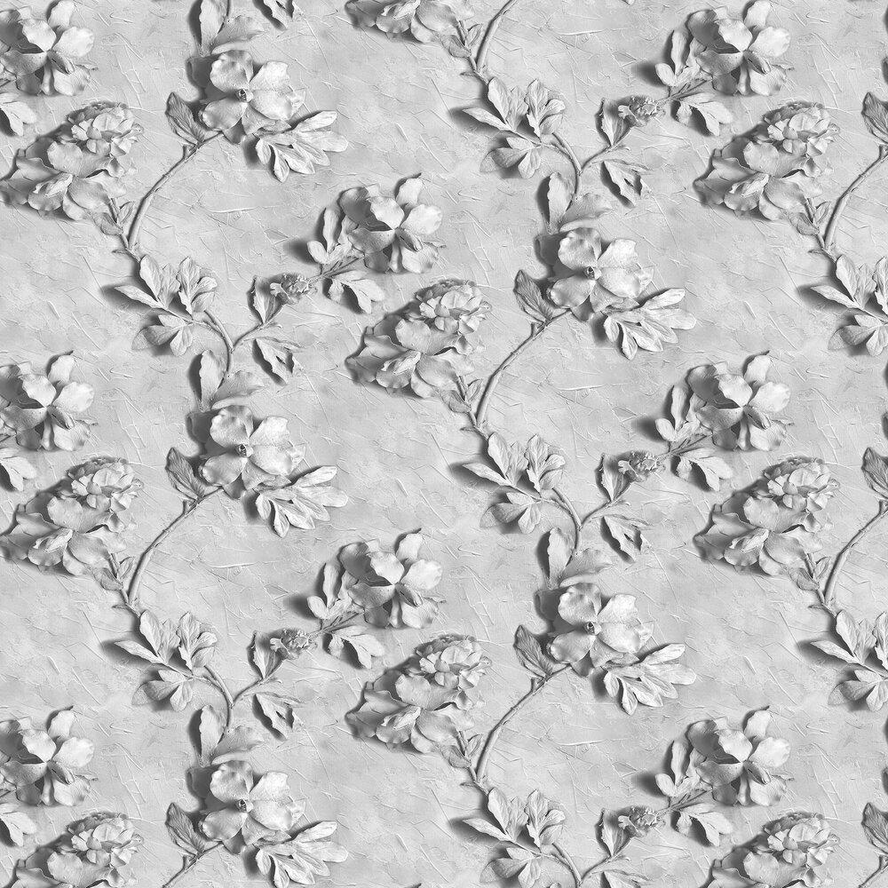 Stone Rose Wallpaper - Grey - by Graham & Brown