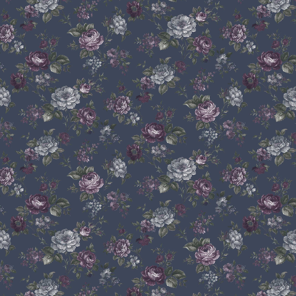 Muse By Graham Brown French Navy Wallpaper Wallpaper Direct