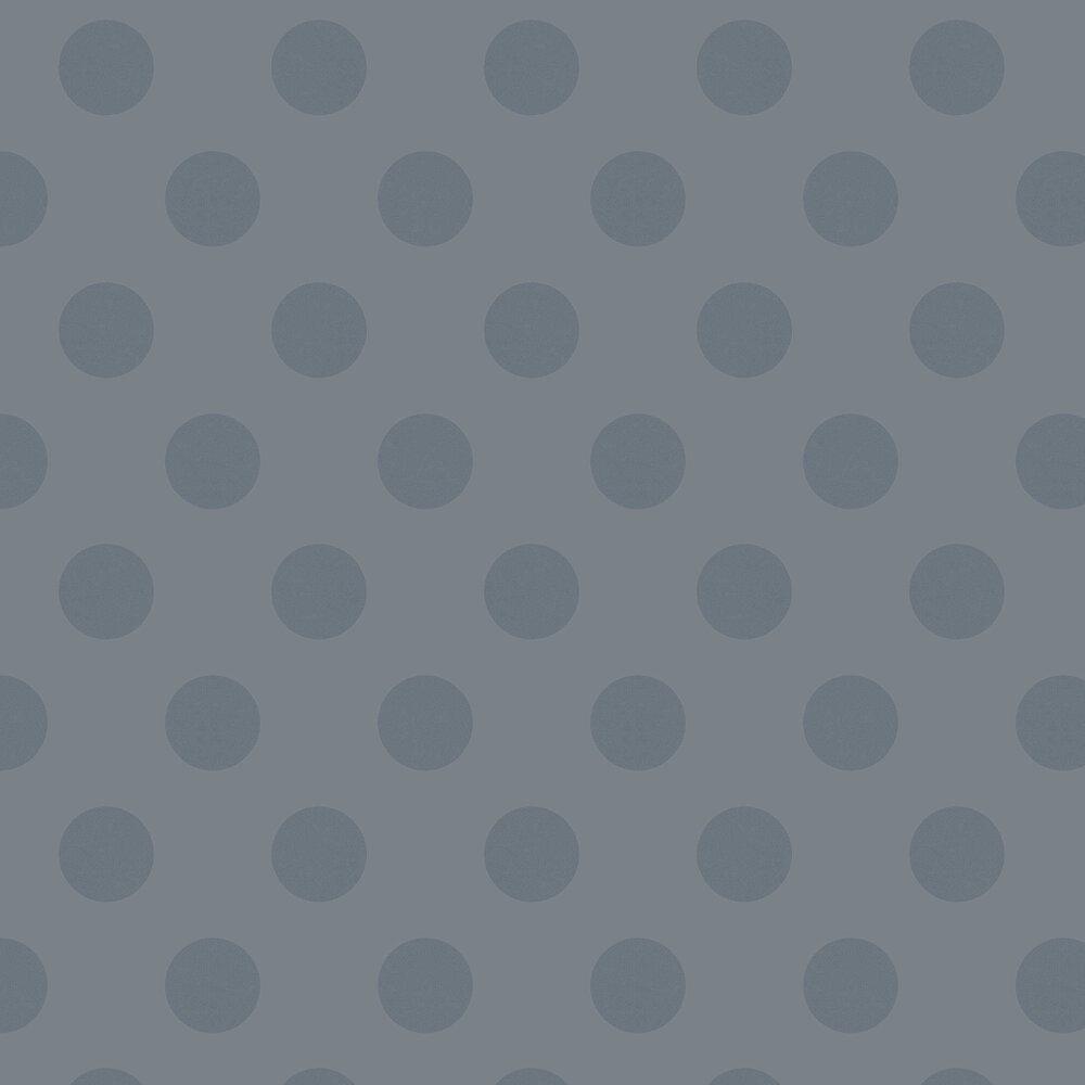 Polka Wallpaper - Steel - by Graham & Brown