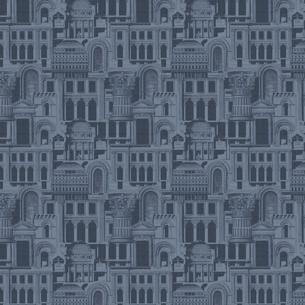 Quarters Wallpaper - Ink - by Graham & Brown