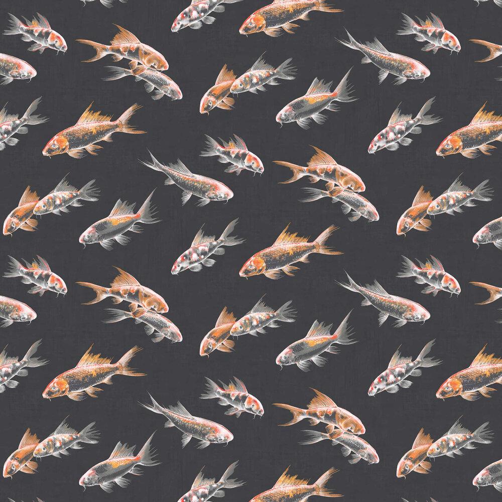 Flow Wallpaper - Black - by Graham & Brown