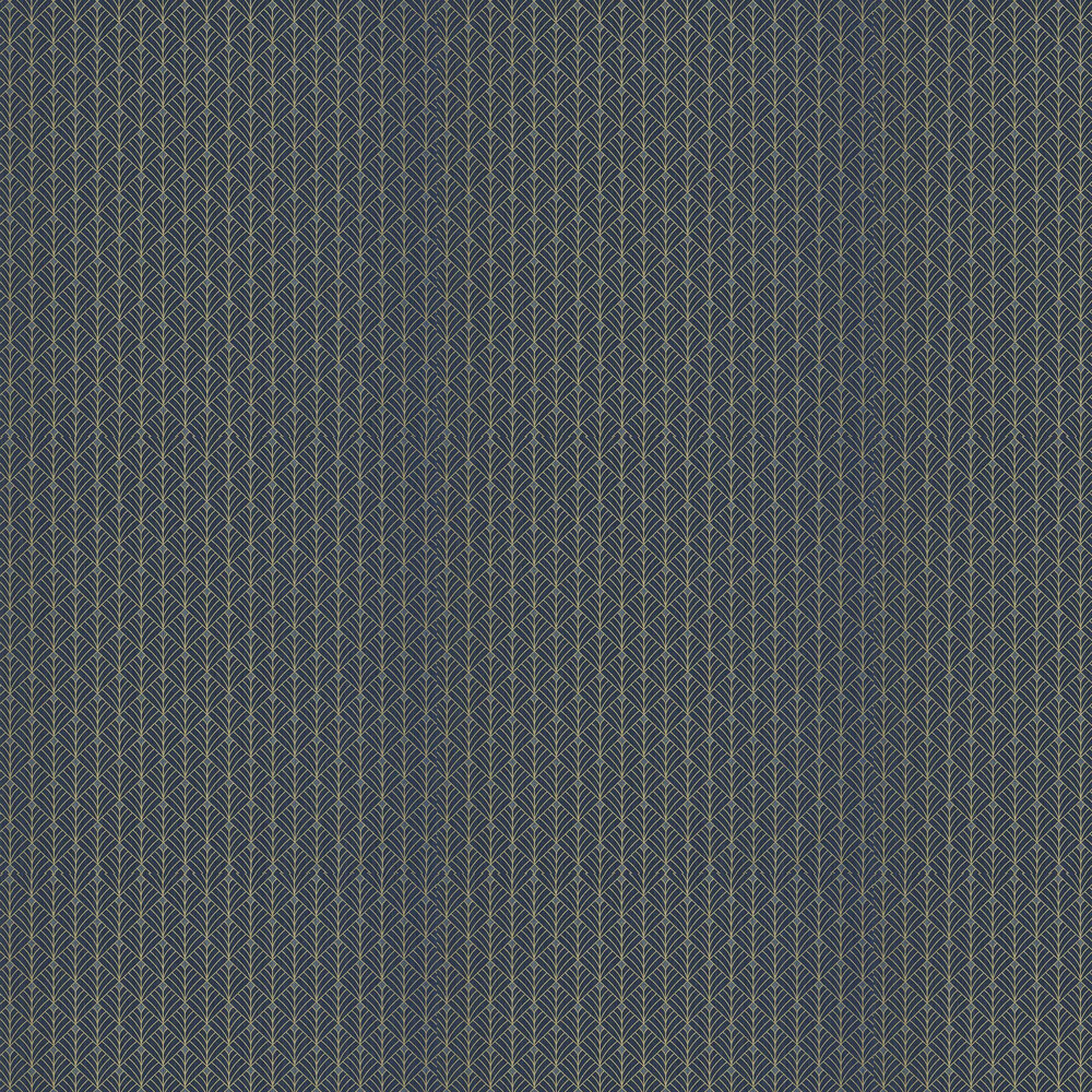 Mistinguett Wallpaper - Dark Blue and Gold - by Caselio