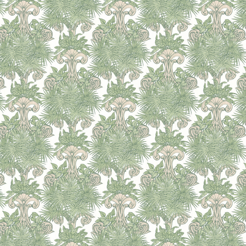 Latin Quarter Wallpaper - Green - by Laurence Llewelyn-Bowen