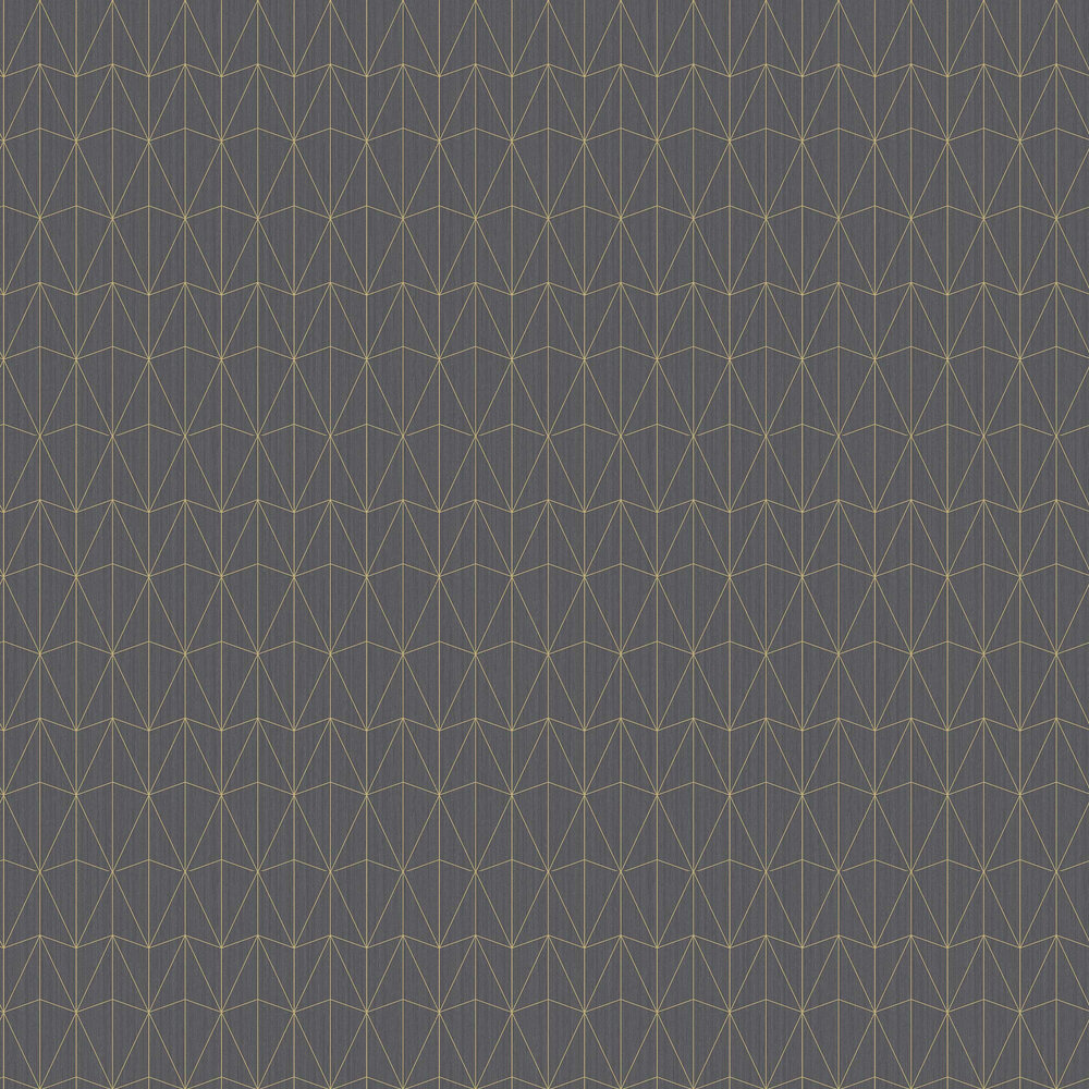 Caselio Chrysler Anthracite and Gold Wallpaper - Product code: 100449134