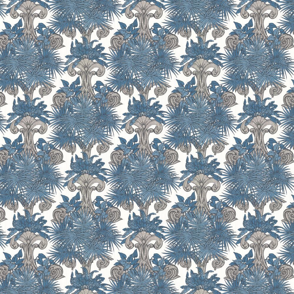 Latin Quarter Wallpaper - Blue - by Laurence Llewelyn-Bowen