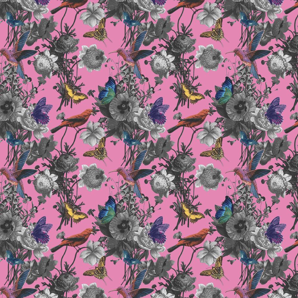 Jardin Wallpaper - Magenta - by Graham & Brown