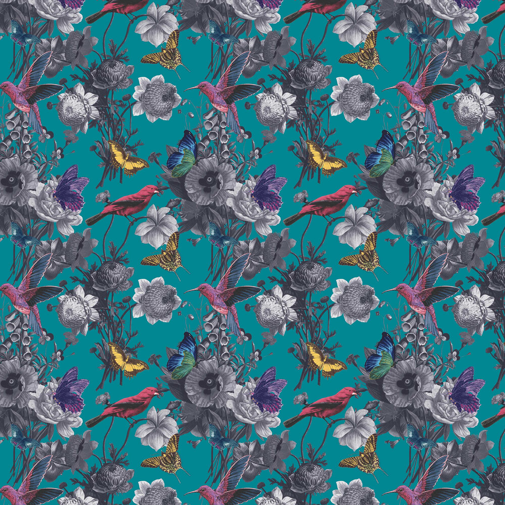 Graham & Brown Jardin Teal Wallpaper - Product code: 106432