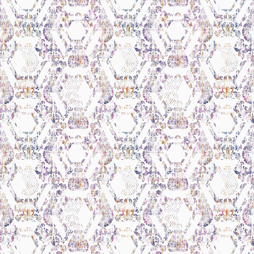 Graham & Brown Geo Damask Lilac Wallpaper - Product code: 106444