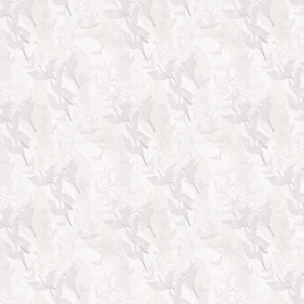 Laurence Llewelyn-Bowen Craney Day Opal White Wallpaper - Product code: LLB6014