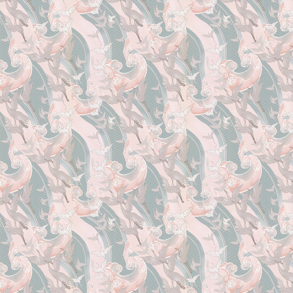 Craney Day Wallpaper - Blossom Pink - by Laurence Llewelyn-Bowen
