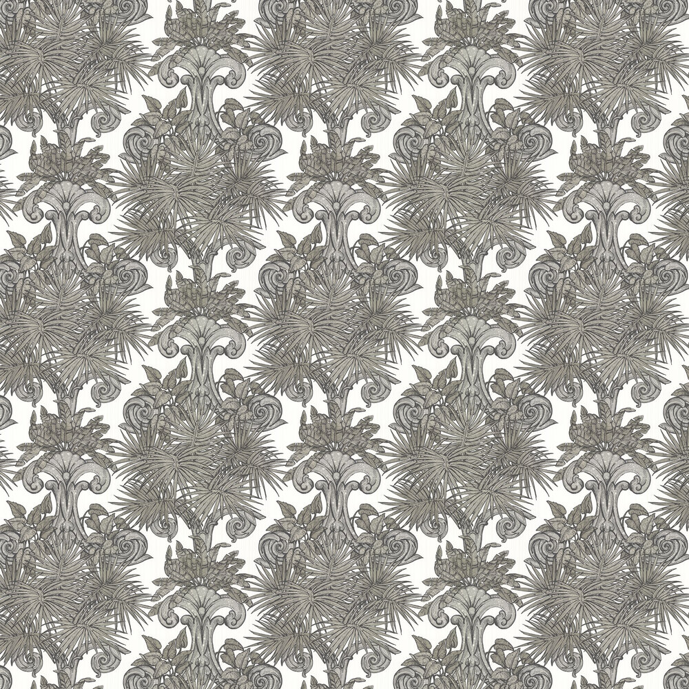 Latin Quarter Wallpaper - Black / White - by Laurence Llewelyn-Bowen