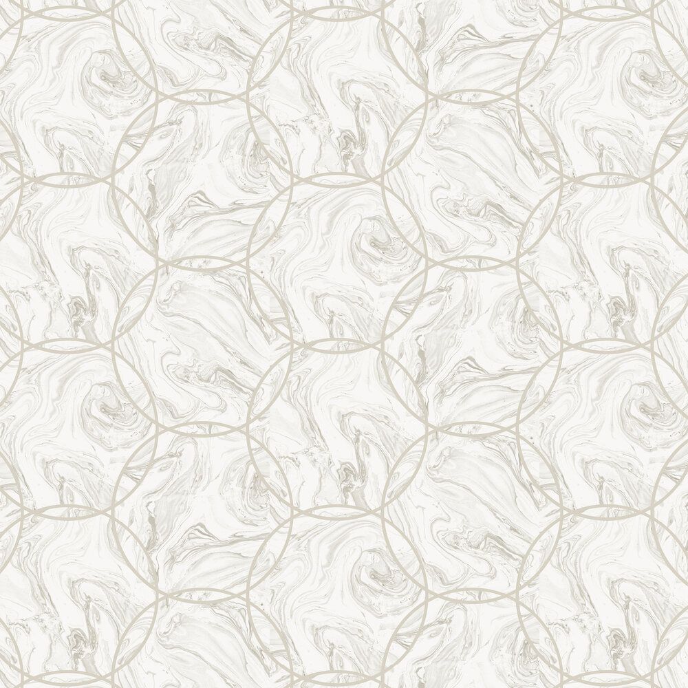 Aqueous Wallpaper - Geo Taupe - by Graham & Brown