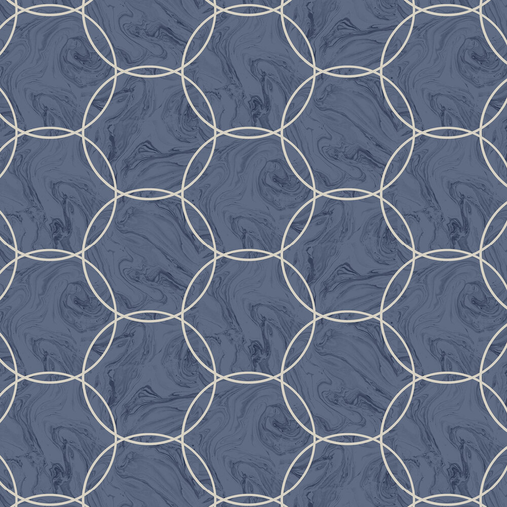 Graham & Brown Aqueous Geo Cobalt Wallpaper - Product code: 105757