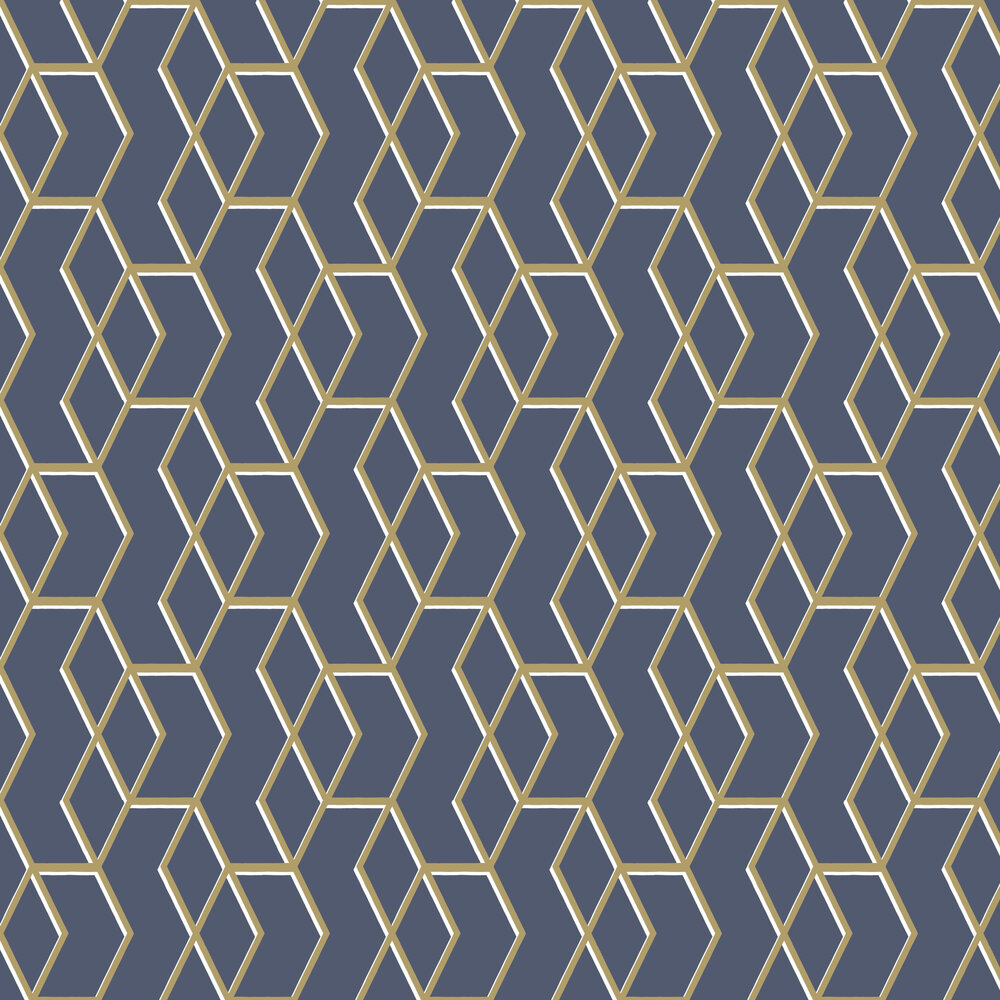 Archetype Wallpaper - Navy / Gold - by Graham & Brown