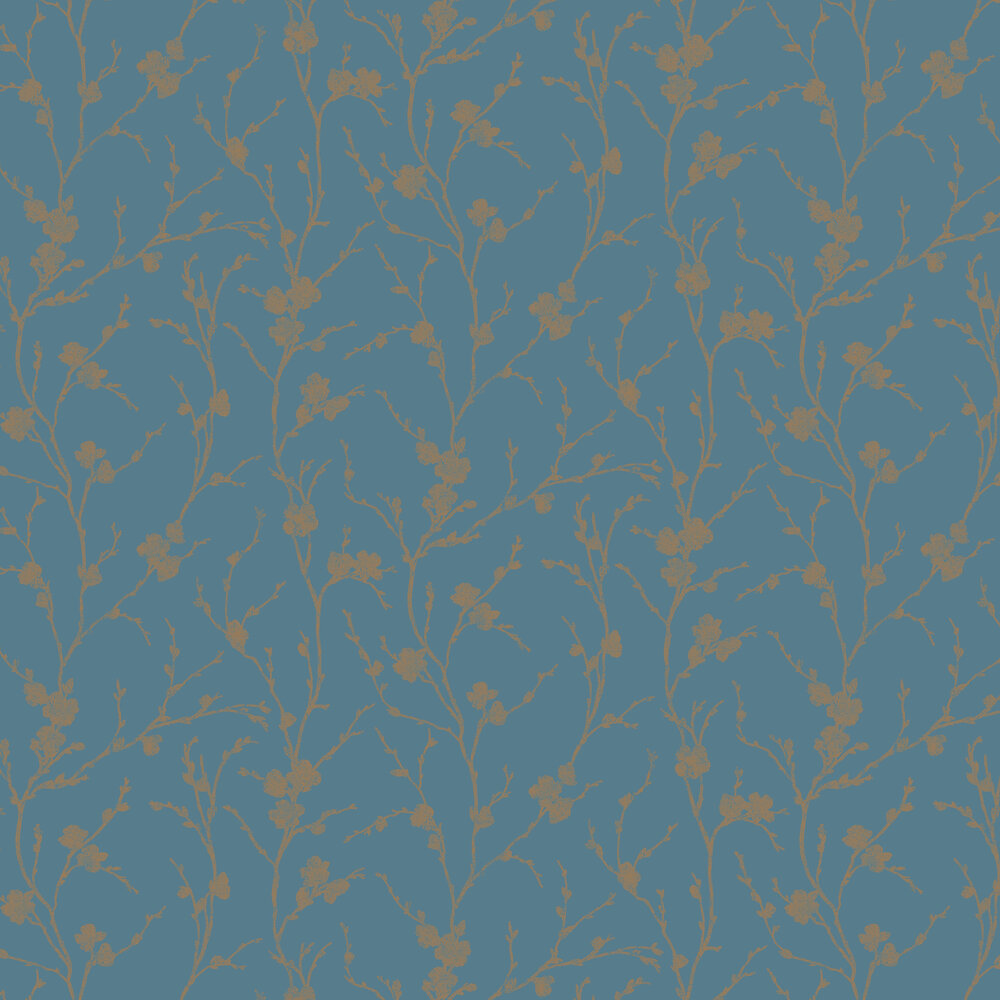 Meiying Wallpaper - Teal - by Graham & Brown
