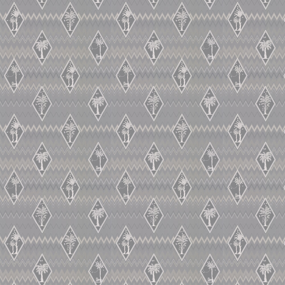 Laurence Llewelyn-Bowen Tropicalia Grey Wallpaper - Product code: LLB6038
