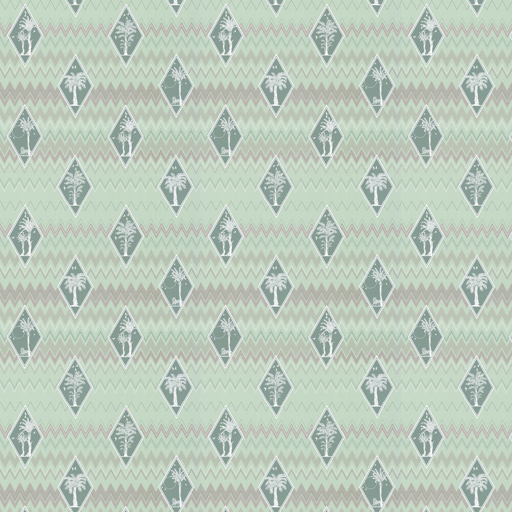 Laurence Llewelyn-Bowen Tropicalia Mint Green Wallpaper - Product code: LLB6040