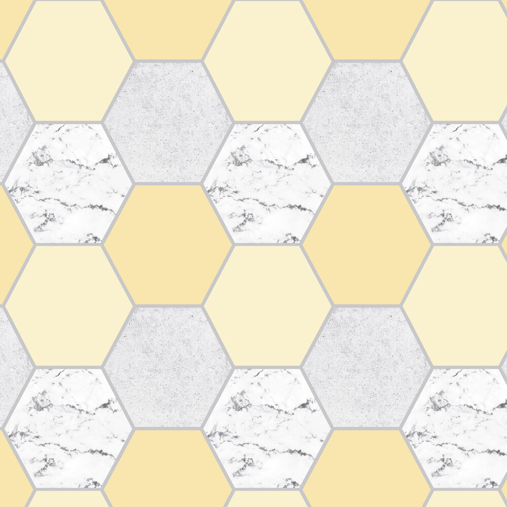 Earthen Wallpaper - Yellow - by Graham & Brown