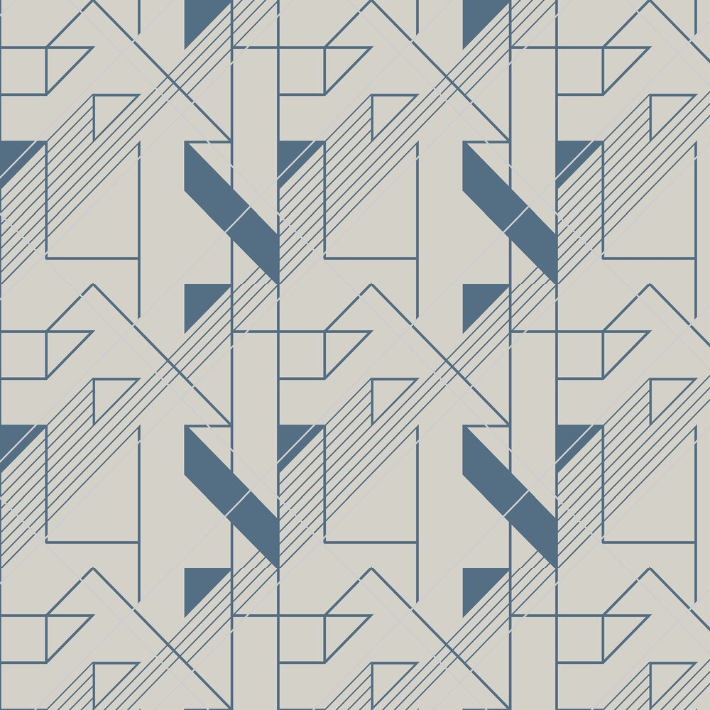 Graphic Wallpaper - Cobalt - by Graham & Brown