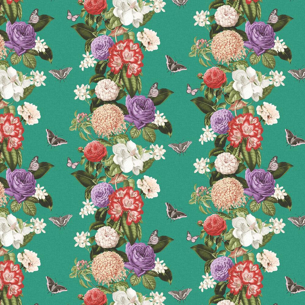 Bloomsbury Wallpaper - Teal - by Graham & Brown