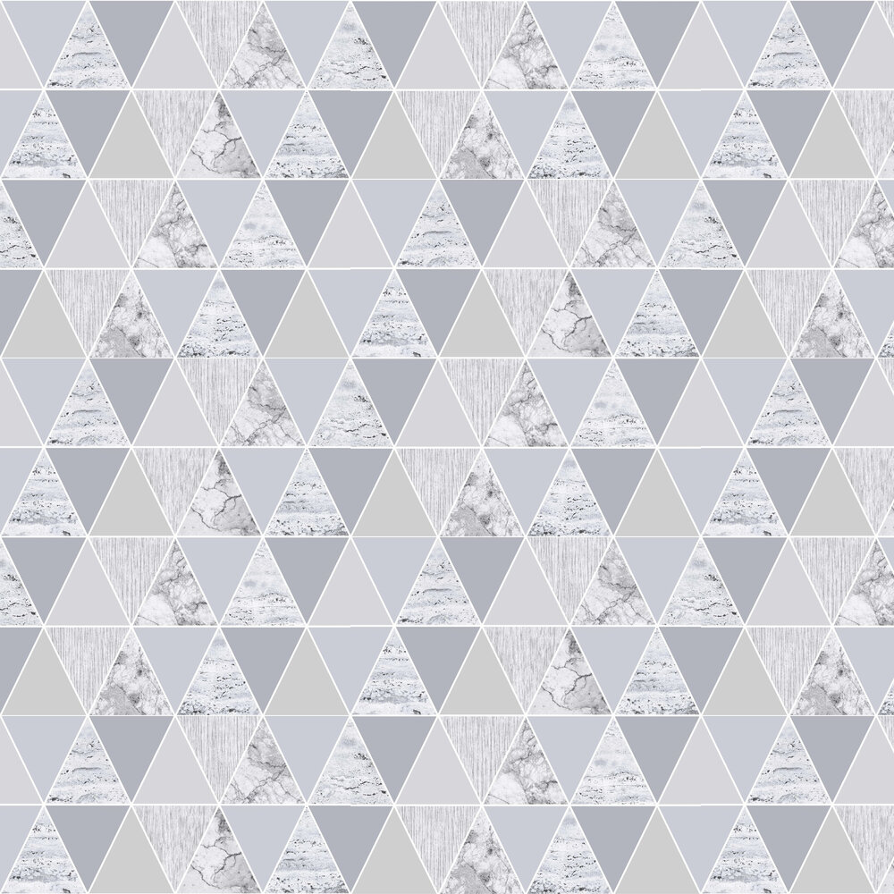 Reflections Wallpaper - Silver - by Graham & Brown