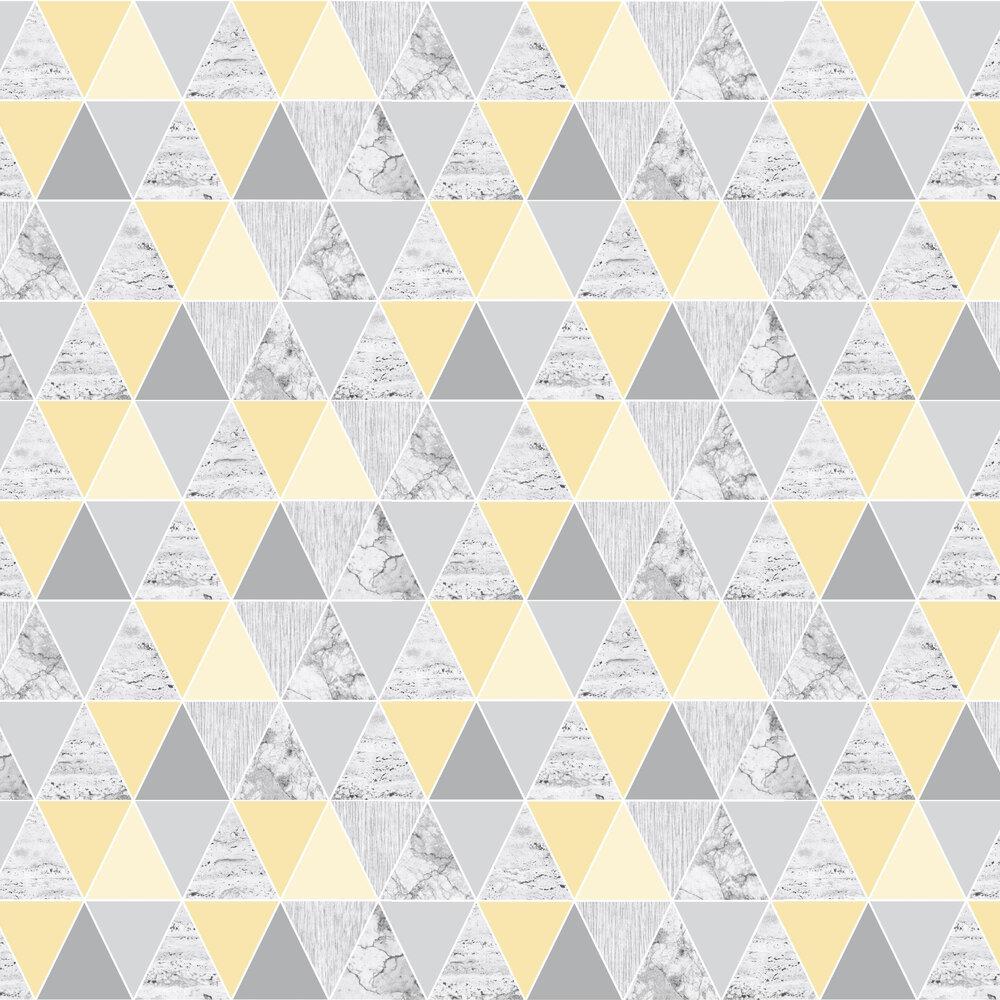 Reflections Wallpaper - Lemon - by Graham & Brown