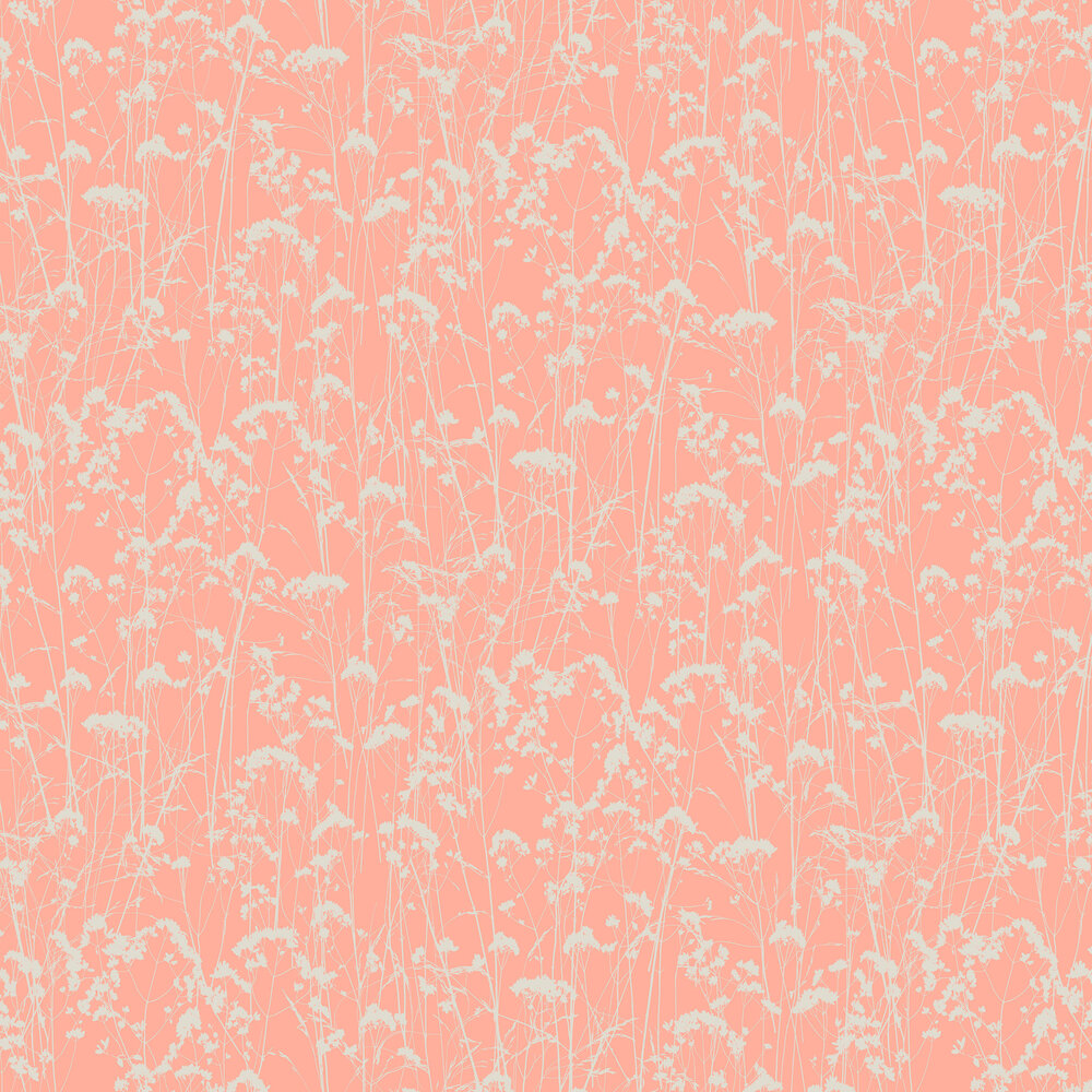 Grace Wallpaper - Coral - by Graham & Brown