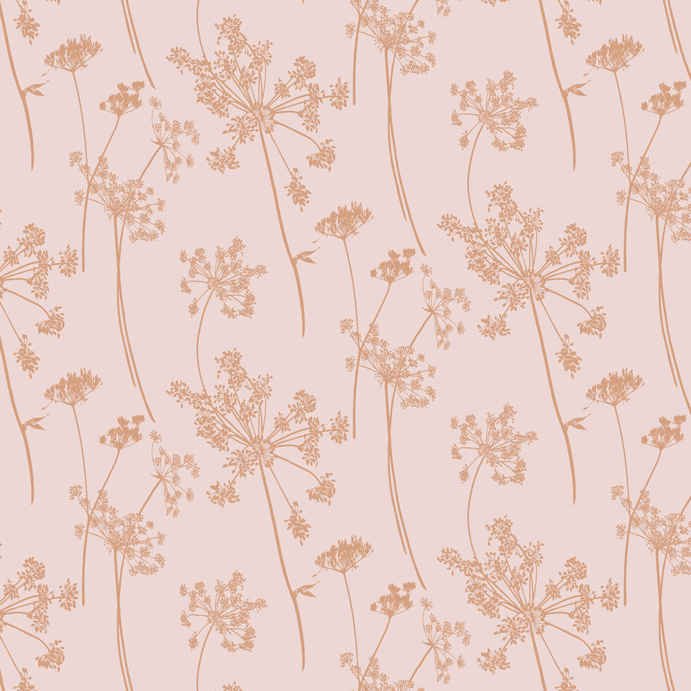 Anthriscus Wallpaper - Blush - by Graham & Brown