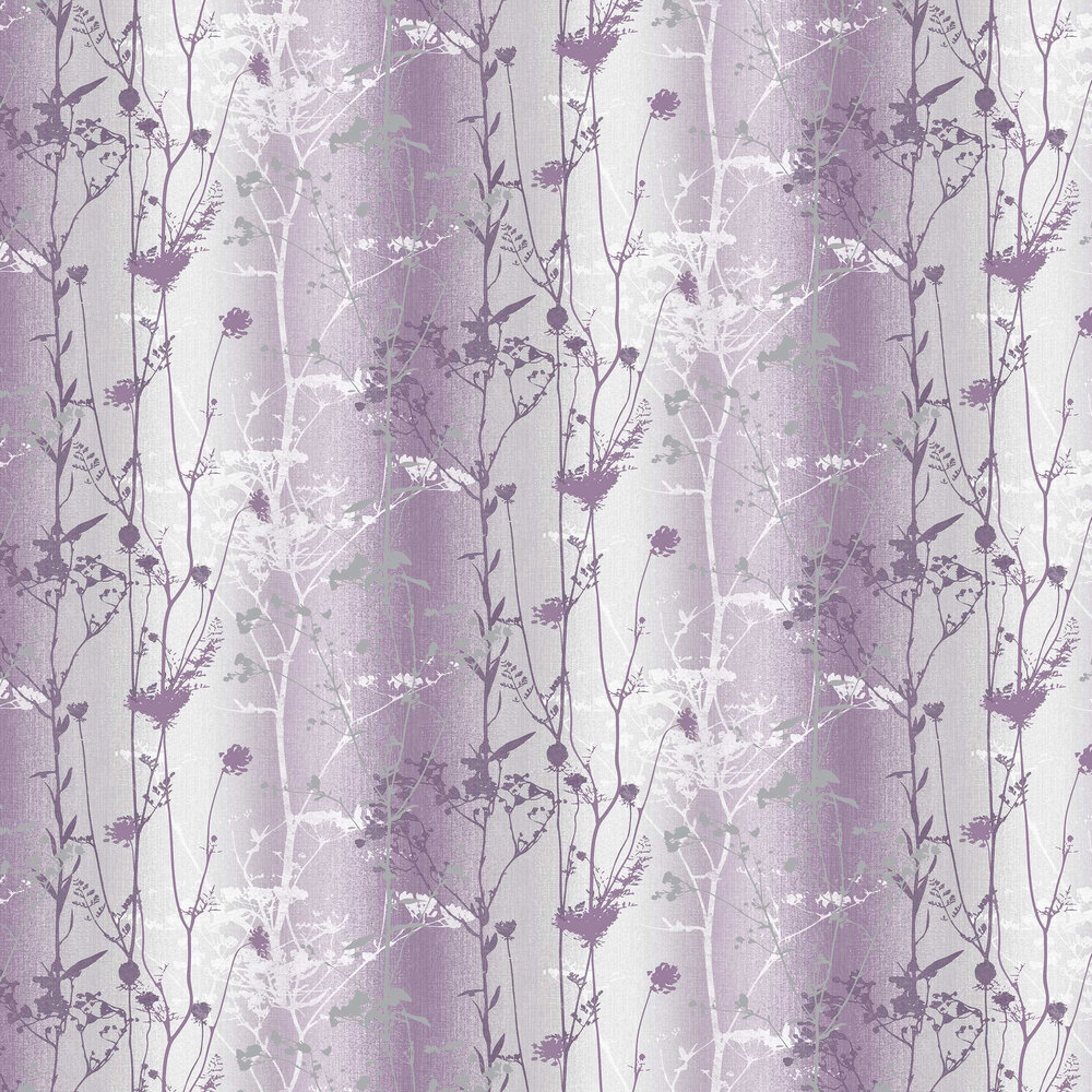 Wildflower Wallpaper - Plum - by Graham & Brown