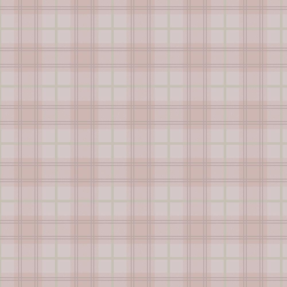 Tartan Wallpaper - Pink - by Graham & Brown