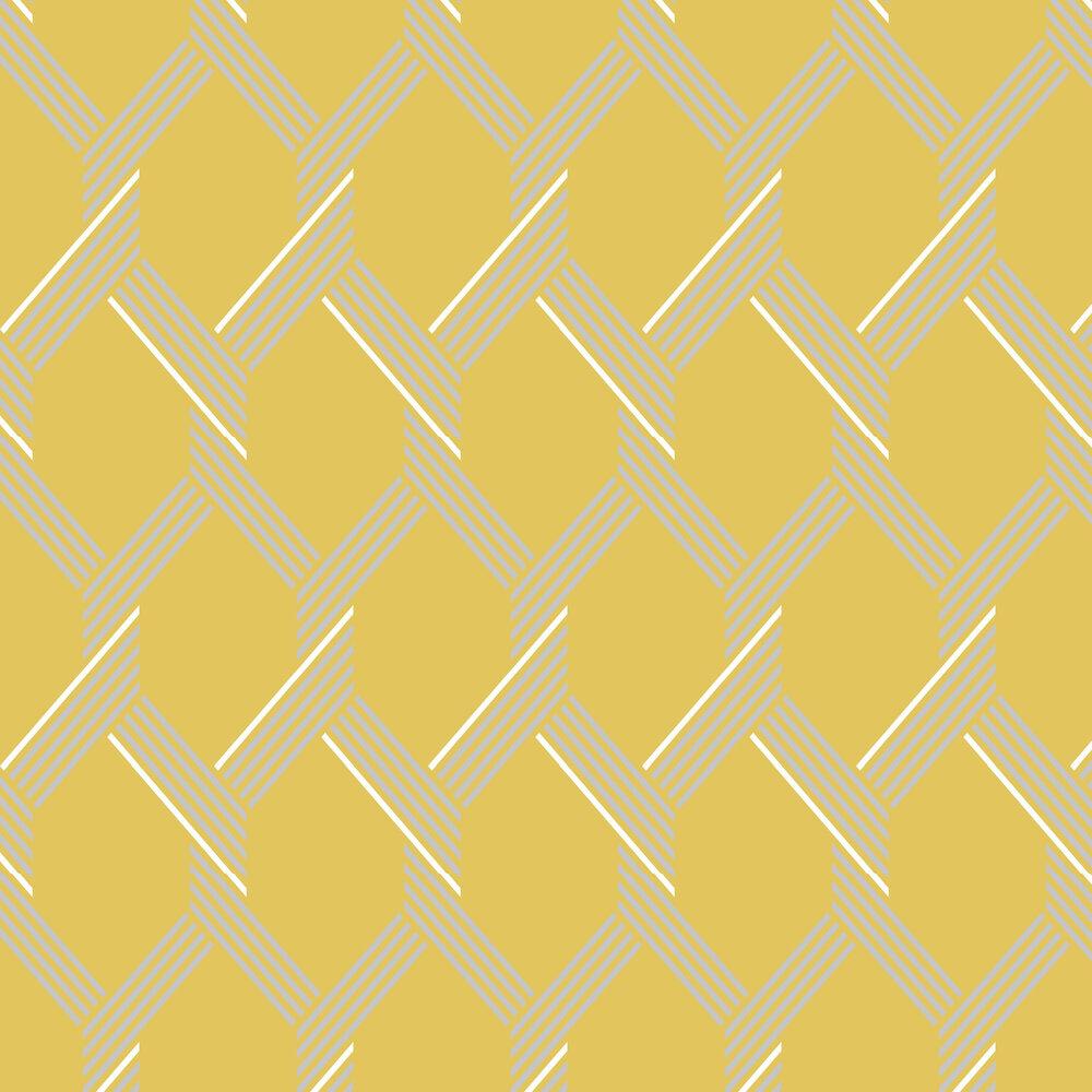 Graham & Brown Vector Lemon / Silver Wallpaper - Product code: 105468