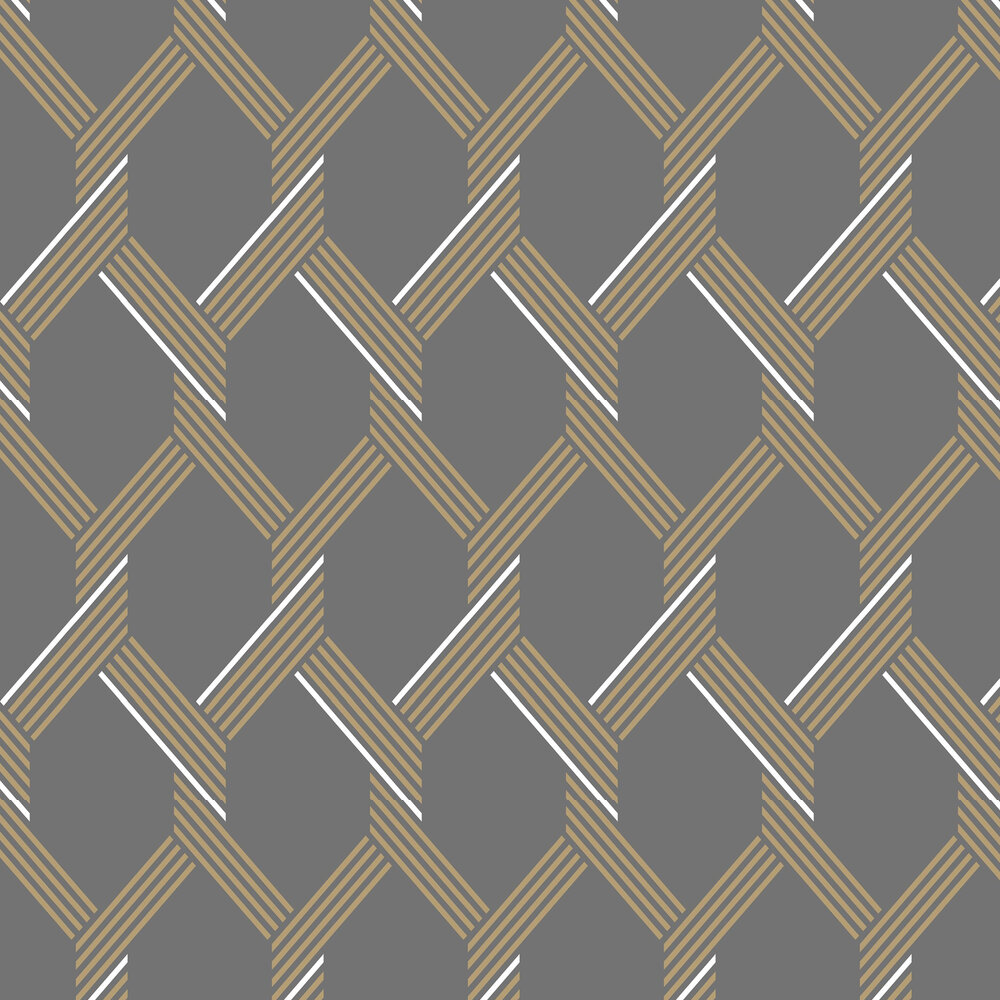 Graham & Brown Vector Graphite / Gold Wallpaper - Product code: 105469