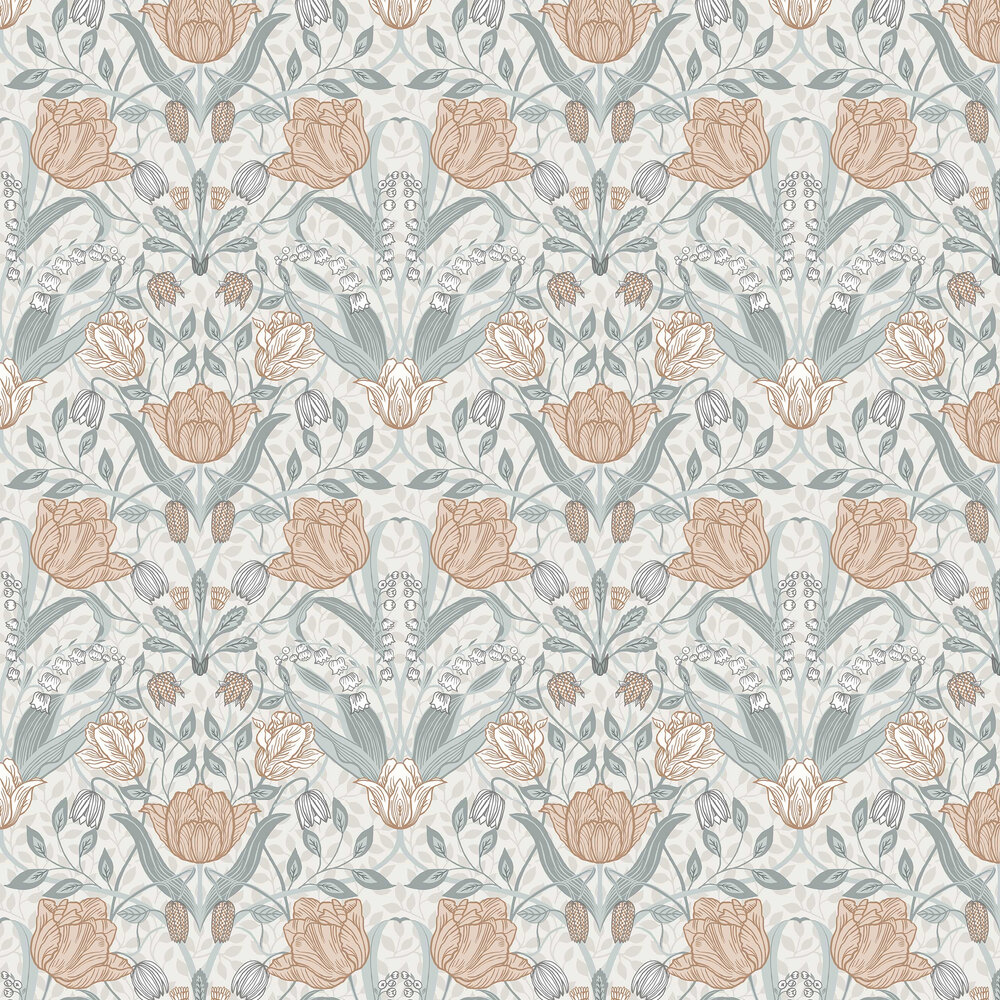 Galerie Filippa White / Grey / Pink Wallpaper - Product code: 33005