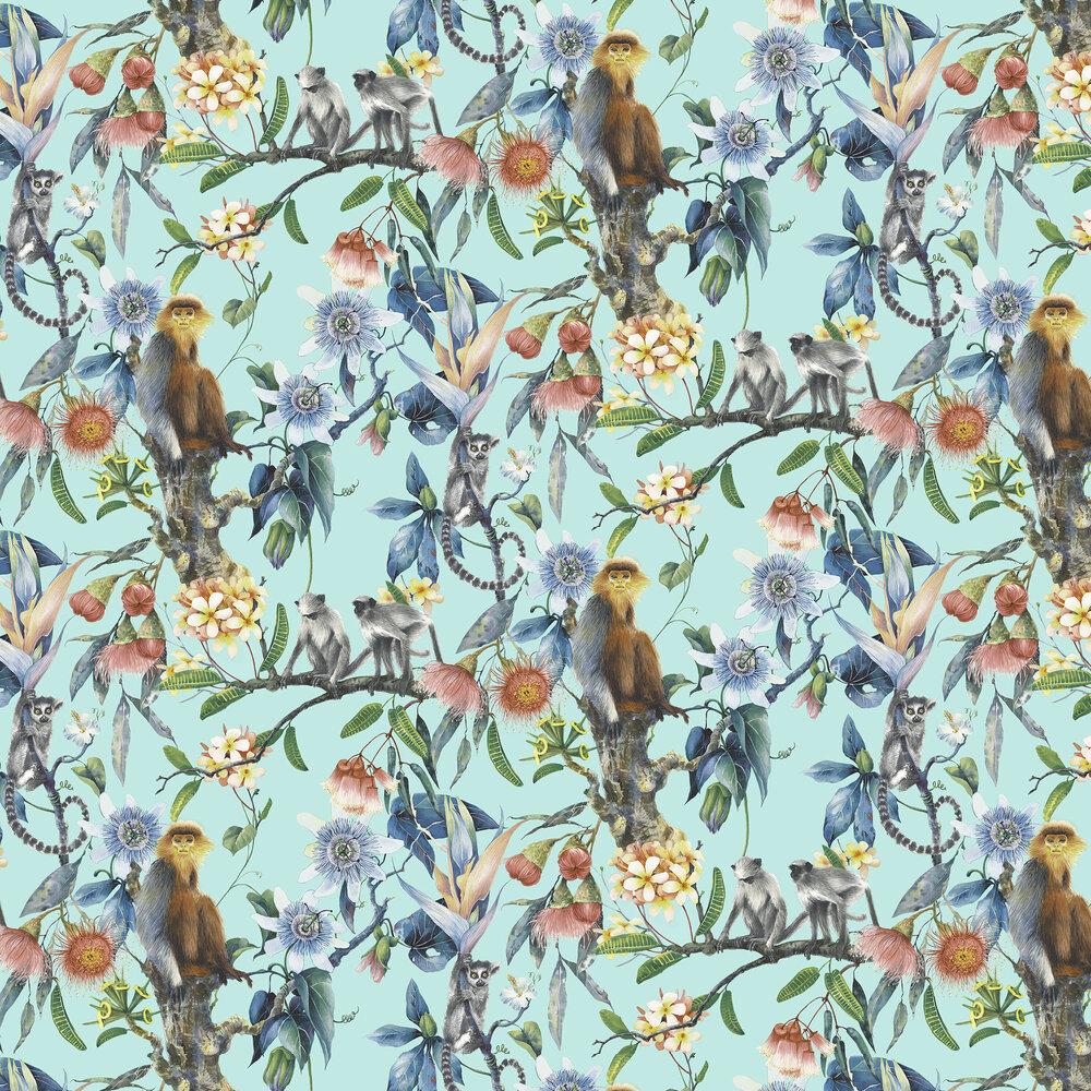 Tropicana Wallpaper - Aqua - by Galerie