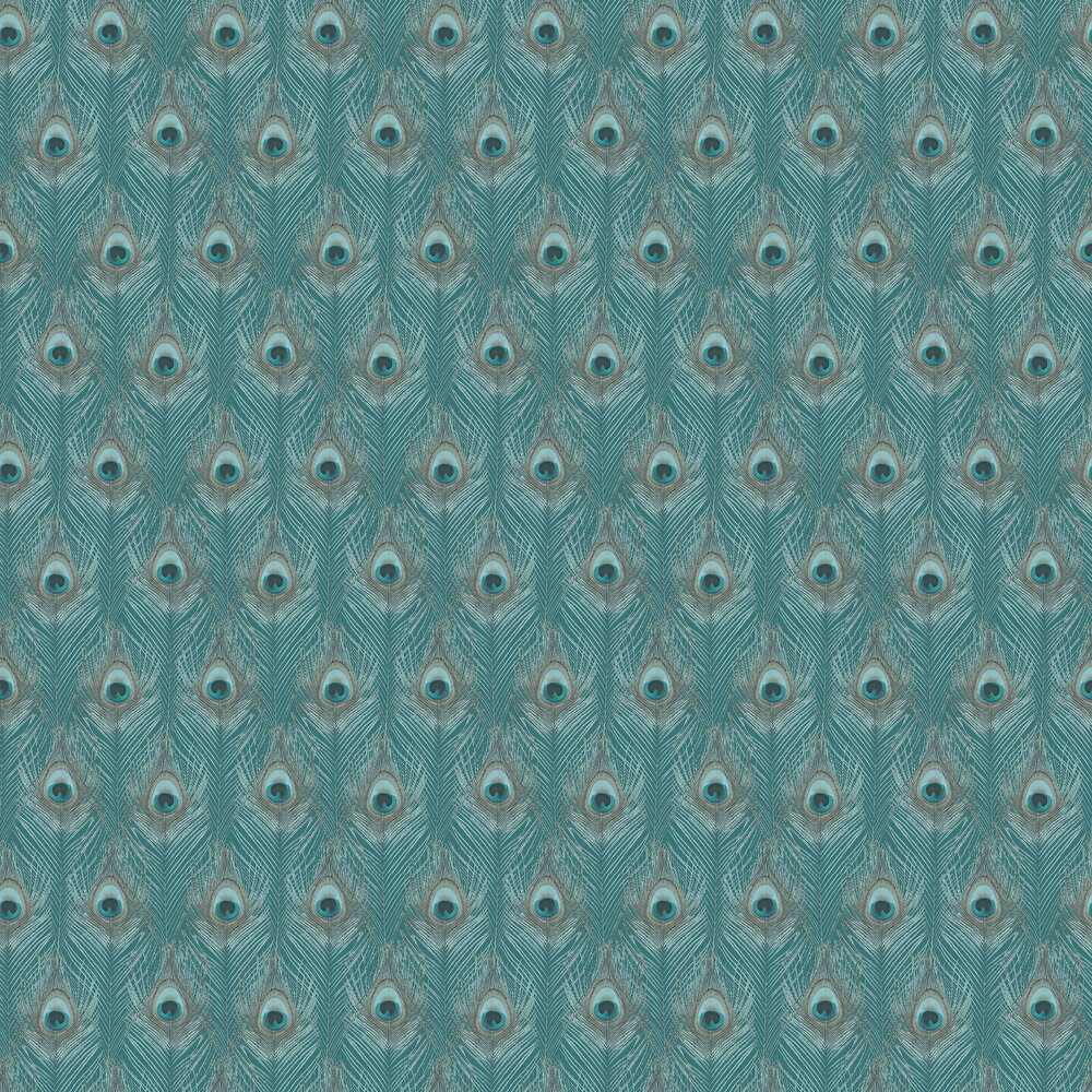 Galerie Peacock Feathers Teal  Wallpaper - Product code: G67978