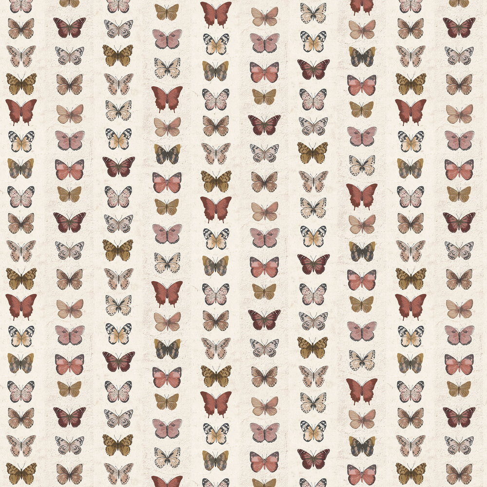 Butterfly Wall Wallpaper - Brick - by Galerie