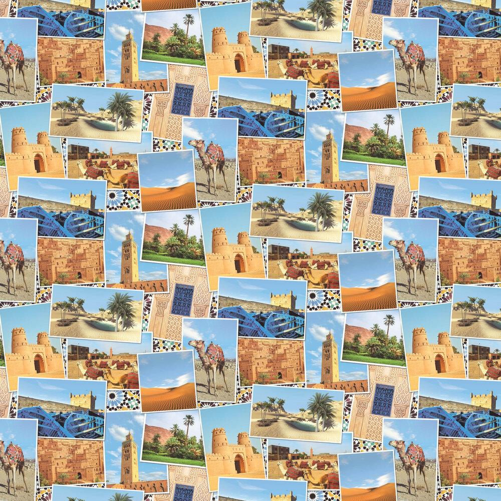Arabian Postcards Wallpaper - Multi Coloured - by SK Filson