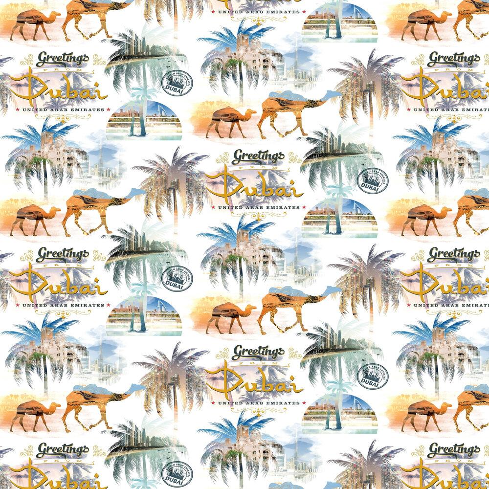 Greetings from Dubai Wallpaper - Multi Coloured - by SK Filson